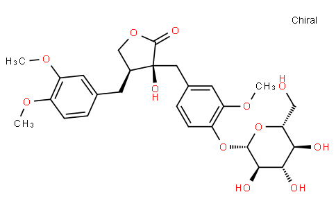4-{[(3S,4S)-4-(3,4-Dimethoxybenzyl)-3-hydroxy-2-oxotetrahydro-3-f uranyl]methyl}-2-methoxyphenyl β-D-glucopyranoside