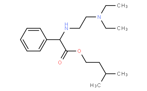 3-methylbutyl 2-[2-(diethylamino)ethylamino]-2-phenylacetate