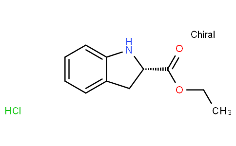 Ethyl (2S)-2-indolinecarboxylate hydrochloride (1:1)