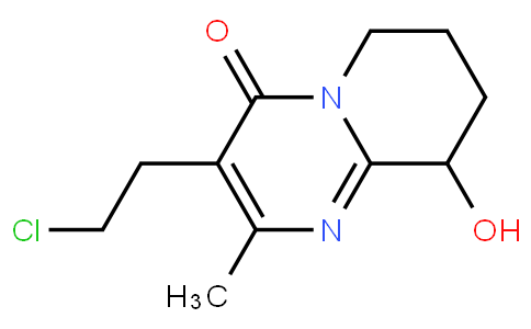 3-(2-Chloroethyl)-6,7,8,9-tetrahydro-9-hydroxy-2-methyl-4H-pyrido[1,2-a]pyrimidin-4-one