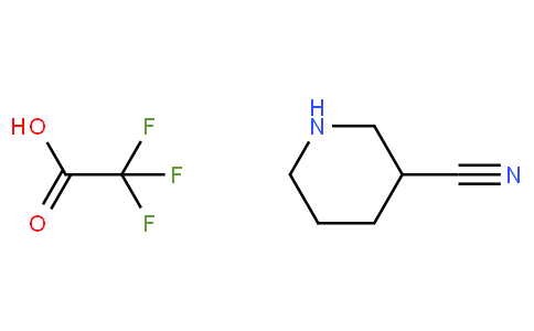 3-Piperidinecarbonitrile Trifluoroacetic Acid Salt