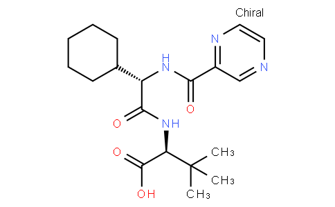(2S)-2-[[(2S)-2-cyclohexyl-2-(pyrazine-2-carbonylamino)acetyl]amino]-3,3-dimethylbutanoic acid