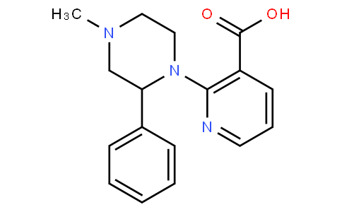 2-(4-Methyl-2-phenylpiperazin-1-yl)nicotinic acid