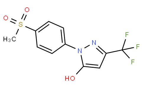2-(4-METHANESULFONYL-PHENYL)-5-TRIFLUOROMETHYL-2H-PYRAZOL-3-OL