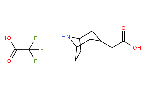 2-(8-aza-bicyclo[3.2.1]octan-3-yl)acetic acid 2,2,2-trifluoroacetate