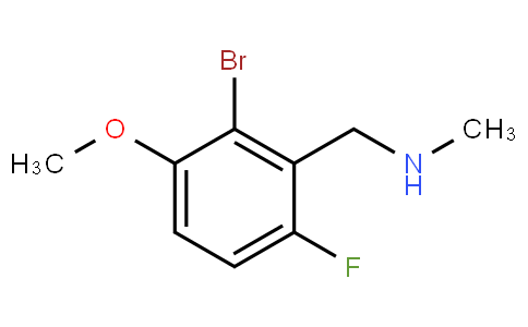 1-(2-Bromo-6-fluoro-3-methoxyphenyl)-N-methylmethanamine